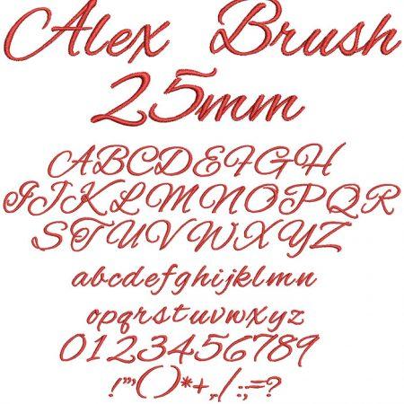 Alex Brush 25mm Font