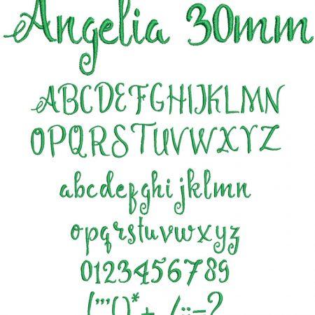 Angelia 30mm Font