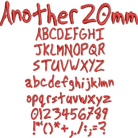 Another 20mm Font