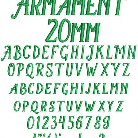 Armament 20mm Font