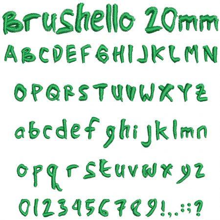Brushello 20mm Font