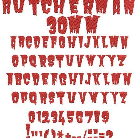 Butcherman 30mm Font
