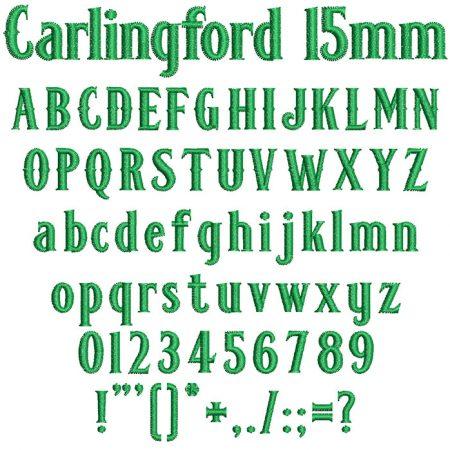 Carlingford 15mm Font