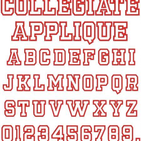 Collegiate Applique Font