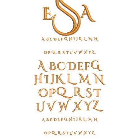 Deco Monogram 50mm Font