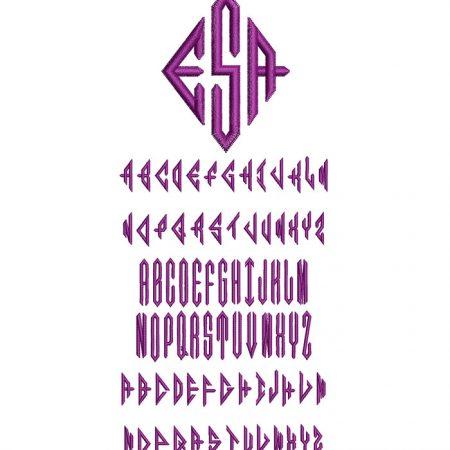 Diamond Monogram 50mm Font