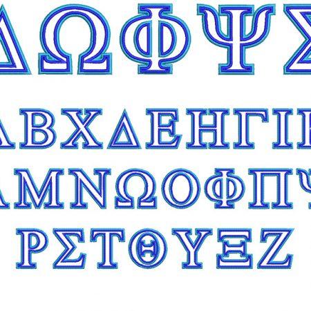 Greek 2 Color 60mm Font