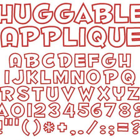 Huggable Applique 50mm Font