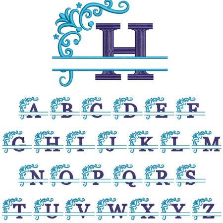 Split 2 Color Monogram 100mm Font