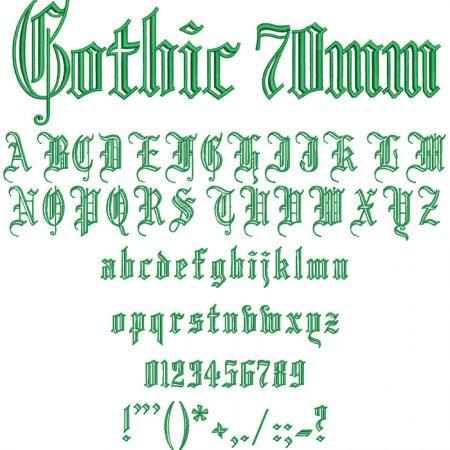 Gothic esa font icon