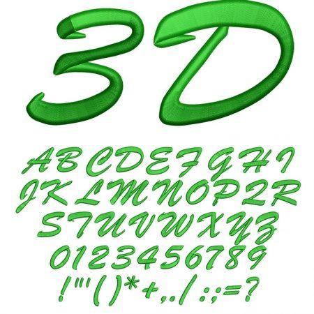 3D Brush Script50mm