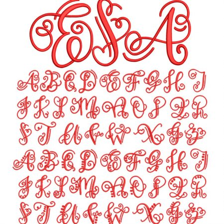 crafty monogram esa font icon