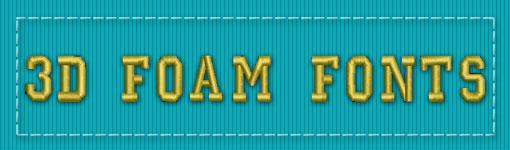 3D Foam ESA Embroidery Font Category
