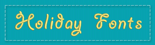 Holiday ESA Embroidery Font Category