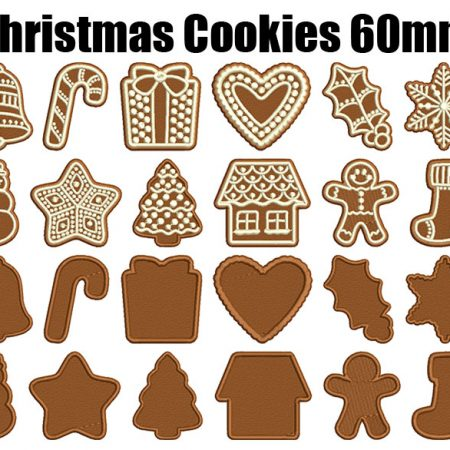 christmas cookies 60mm esa font