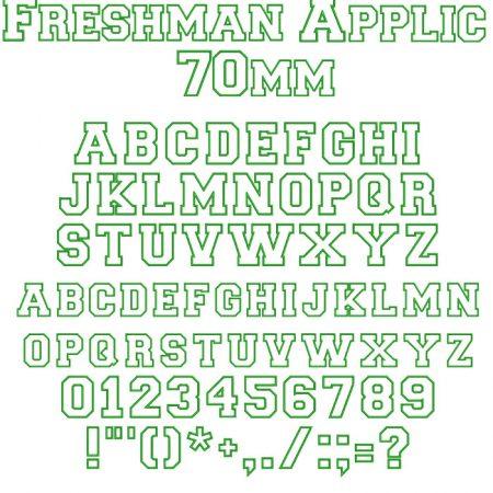 freshman applique 70mm esa font