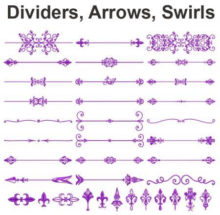 dividers arrow swirls esa glyph icon