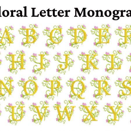 floral letter monogram icon