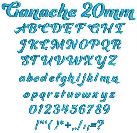 Ganache 20mm ESA font icon